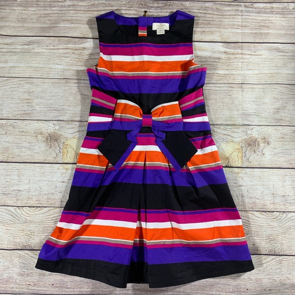 603d98a92 kate spade Dresses | Dress Striped With Bow Sz 10 | Poshmark